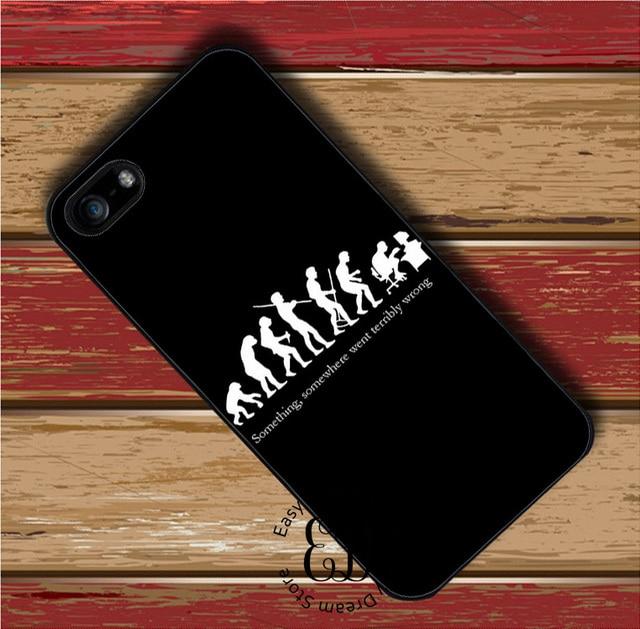 Evolution Menschen Im Technologie Fall Fur Iphone X 4 5 S SE 5c 6 7 8