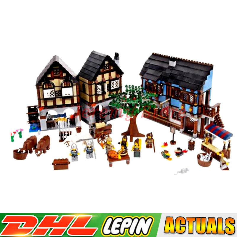2018 Lepin 16011 1601Pcs Castle Series The Medieval Manor Castle Set Educational Building Blocks Bricks Model Toys Gift 10193 the white castle