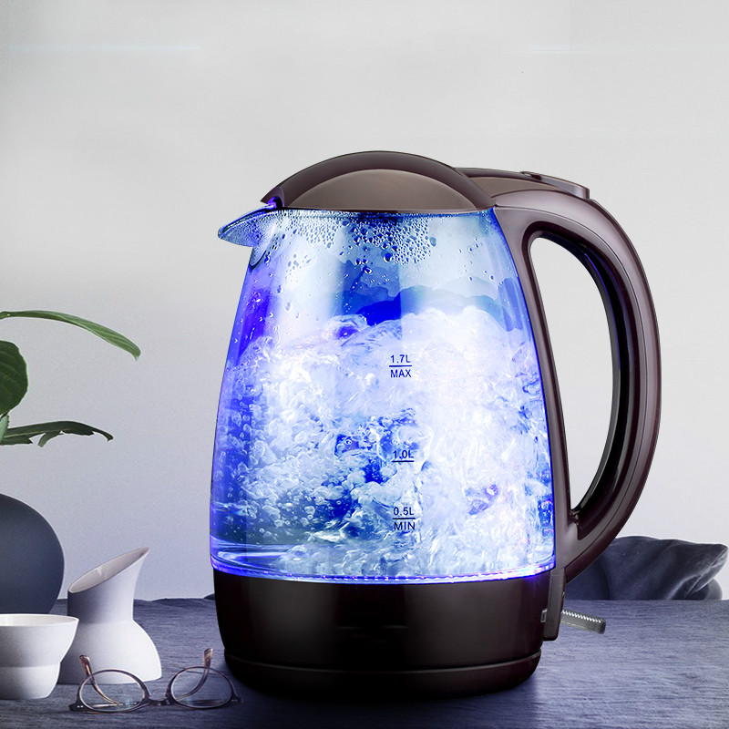 Electric kettle household glass automatic power cut 304 stainless steelElectric kettle household glass automatic power cut 304 stainless steel