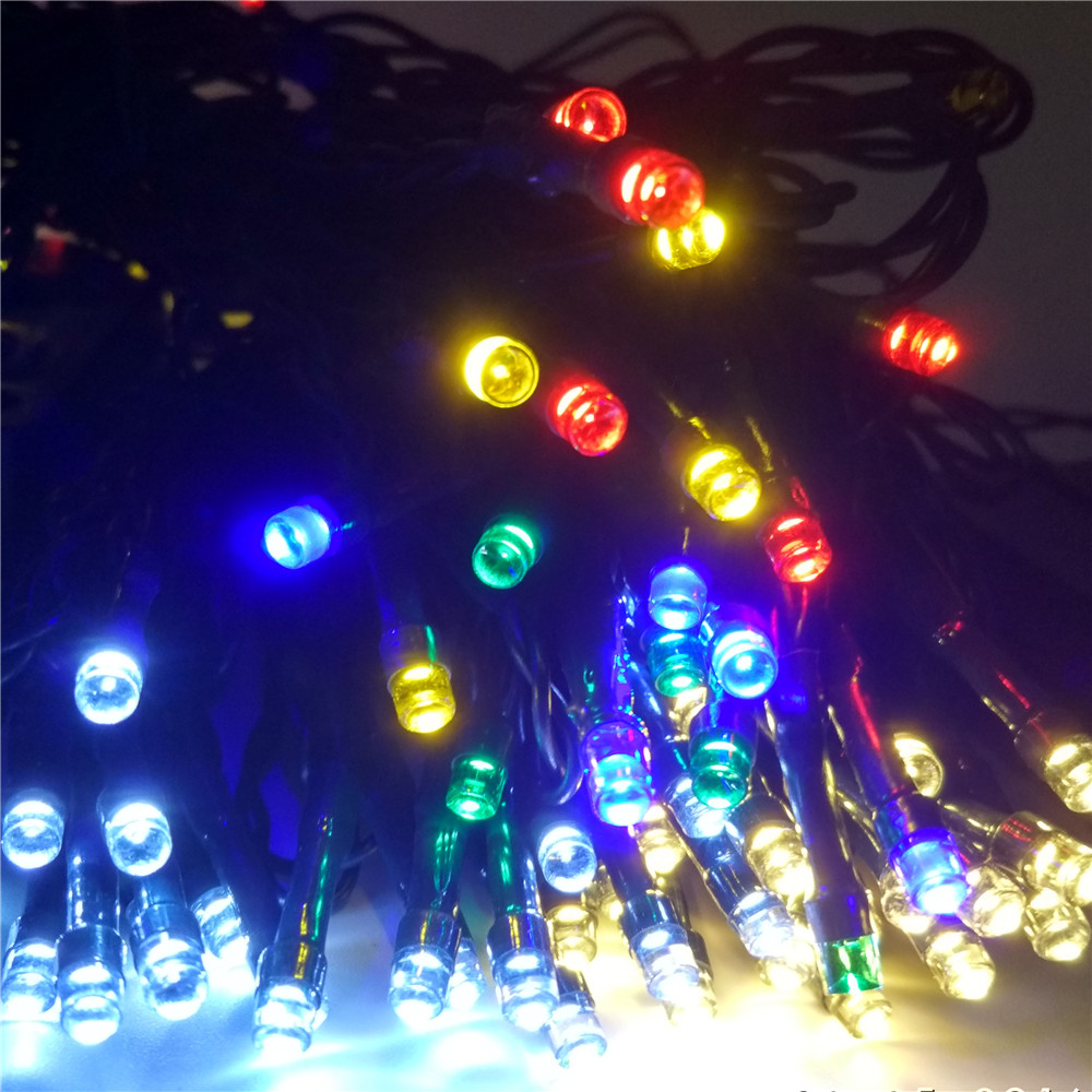 YIYANG Solar 12M 100 LED String Lights Decoration For Christmas Tree Party Outdoor Garden Wholesale Outdoor Garden Patio Lantern ledniceker multi colored solar led string lights with garden solar panel for garden patio christmas tree parties and all outdoor and indoor activities decoration 4 8 meters long 20 waterproof bulbs