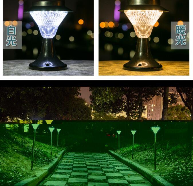 Upgrade waterproof 4W solar light street Landscape light lamp garden decoration outdoor lighting