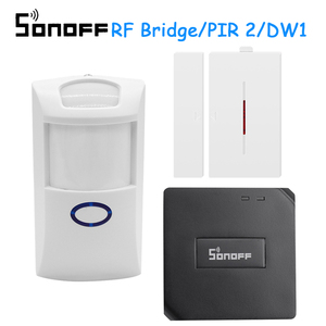 Image 1 - Sonoff RF köprü 433Mhz RF PIR 2 hareket sensörü DW1 kapı ve pencere Alarm sistemi Alexa Google ev akıllı ev Alarm güvenlik