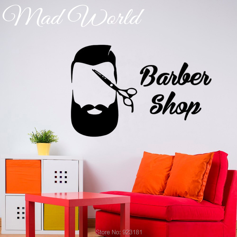 popular the furniture shop buy cheap the furniture shop lots from mad world barber shop scissors men hair stylist wall art stickers decal home diy decoration