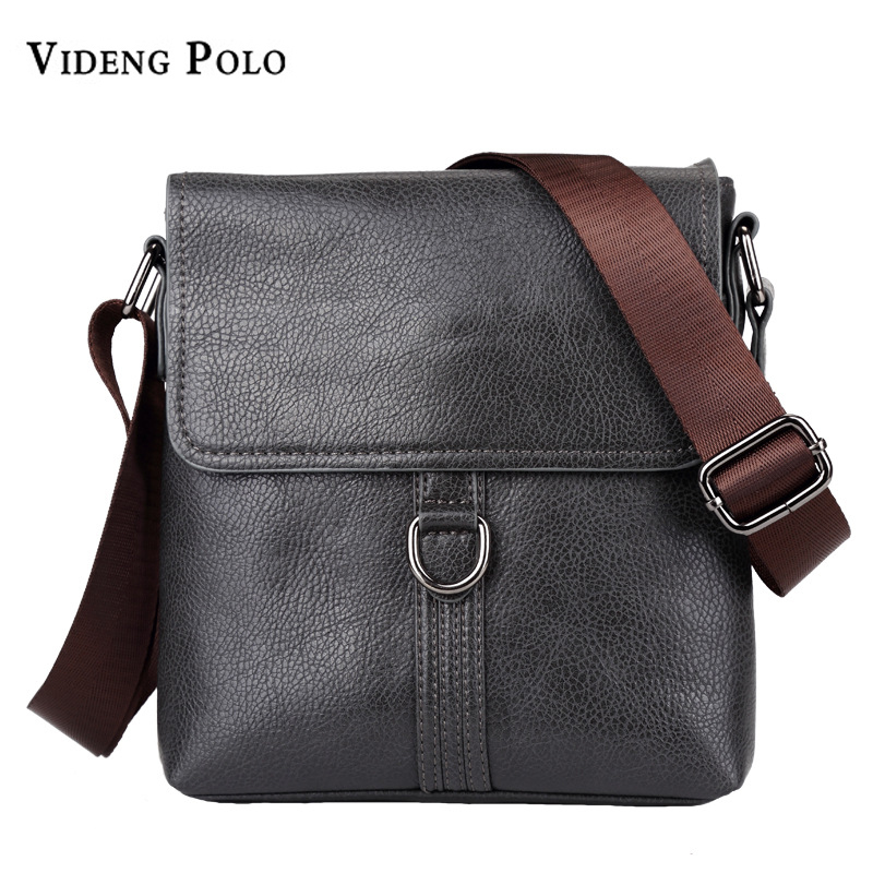 VIDENG POLO Brand Men's Leather High Capacity Casual Shoulder Crossbody Bags Fashion Business Travel Messenger Bags Male Bolsas authentic polo golf double clothing shoes bags mens golf apparel travel bag bolsas zapatos double garment high capacity package