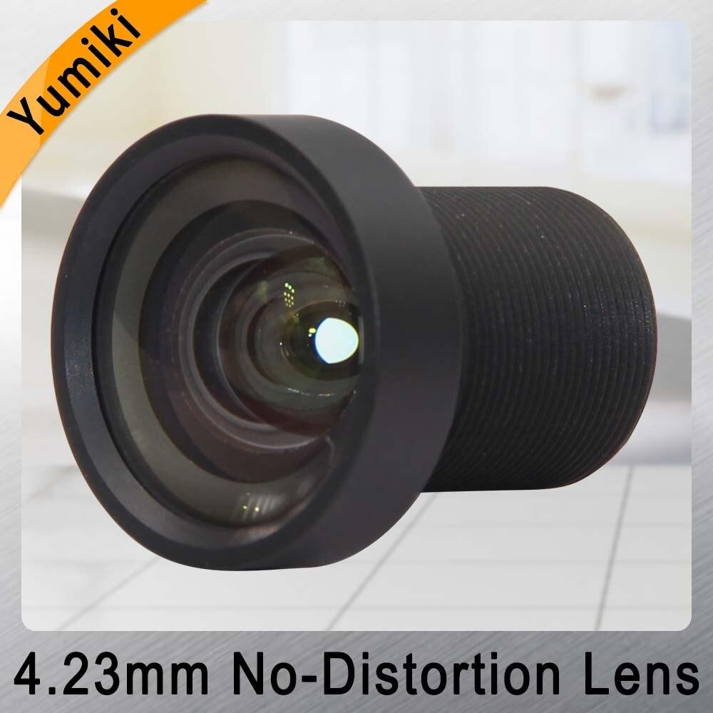 Güvenlik ve Koruma'ten CCTV Parçaları'de Yumiki 5MP 4.23mm Lens 1/1/2 3 inç IR 72D HFOV Hiçbir Bozulma Gopro DJI/SJCAM SJ7 Kamera cctv lens IR filtre ile 650nm title=