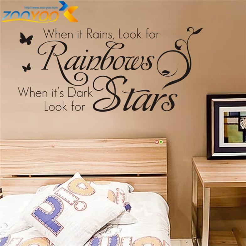 Wonderful Home Decoration Quotes Wall Decals Bedroom Zooyoo8140 Living Room Wall Art  Removable Vinyl Diy Wall Stickers Decorative Sticker In Wall Stickers From  Home ...