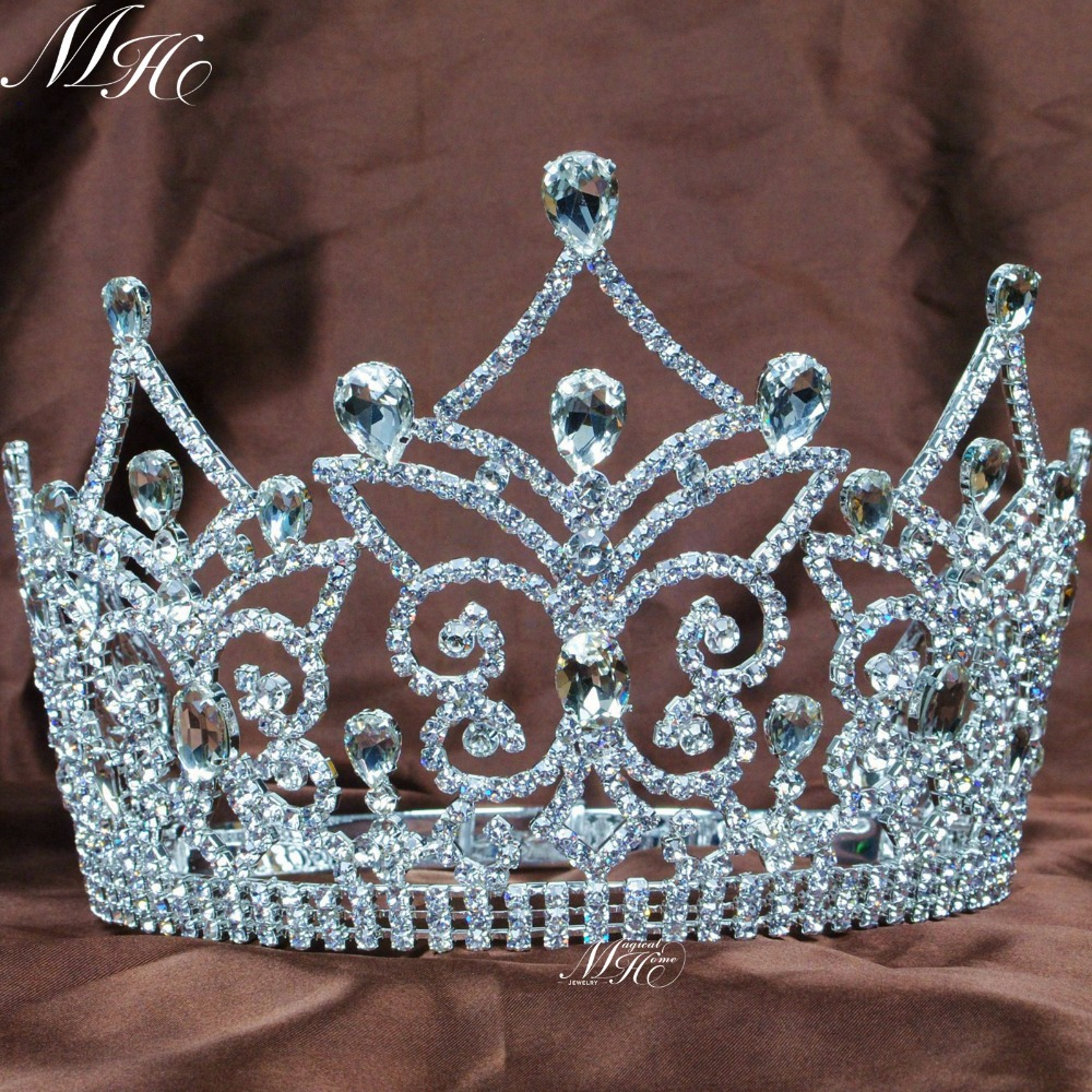 Amazing Pageant Tiaras Bridal Weding Crowns Austrian Rhinestones Crystal Prom Party Diadem Headband Hair Accessories цена