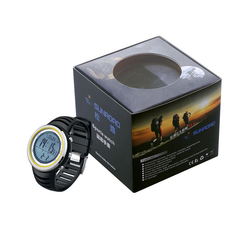 SUNROAD Adult Outdoor Sports Wrist Watch Compass Altimeter Barometer Thermometer Wristwatch Fitness Pedometers Equipment