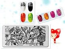 Beautiful Girl Flower Theme DIY Manicure Nail Art Stamp Template Image Plate Rctangular Stamping PLates Set Beauty Polish Tools