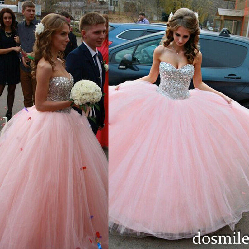 Fuchsia Gown: 2016 Sweet 16 Dresses Turquoise Ball Gown Pink Quinceanera