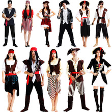 Pirate Cosplay Costume Corsair Clothes Buccaneer Summer Dresses Women Men Halloween Party Clothing Adult Stage Performance Suits