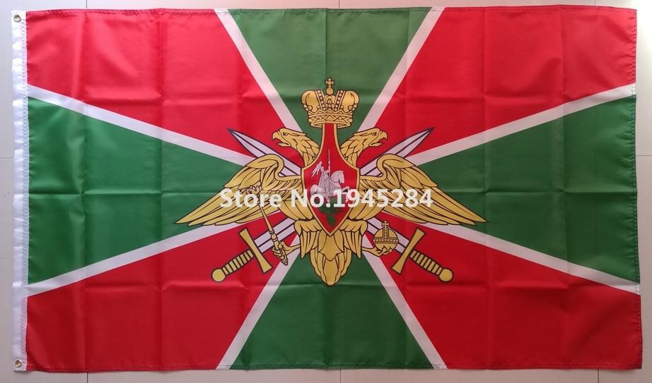 Vlajka úředníků ruských hraničních vojsk 2 Rusko Státní vlajka Nová 3x5ft 90x150cm Polyester vlajka Banner, doprava zdarma