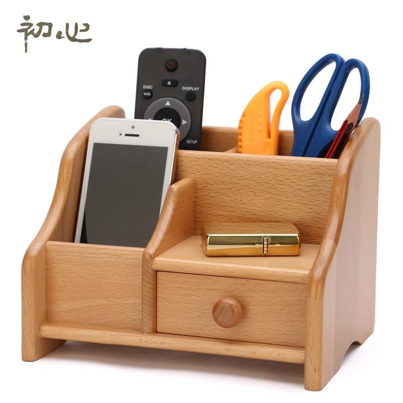 Beech Drawer Storage Remote Control Storage Box Desk