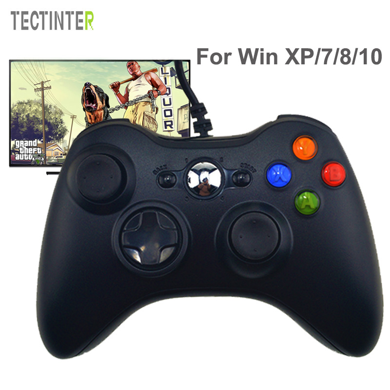 Controle For Microsoft USB Wired Gamepad Game System PC Controller For Windows 7 / 8 / 10 Not for Xbox Joypad