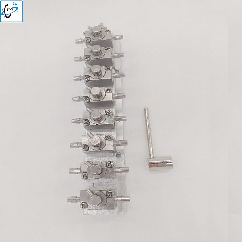 Lowest price Flora Gongzheng large format printer machine metal cleaning valves unit 8 way handle valve стайлер babyliss bab2275tte