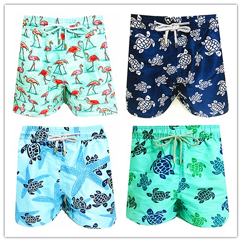 8 10 12 14 16 Years 2019 Brand Vilebre Kids Board Shorts Turtle Boardshorts Quick Dry Beach bermuda Swimwear Children Swimsuit