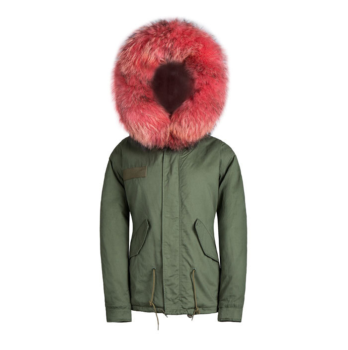male parkas plus size overcoat faux furs lining coat and big orange red collar parka