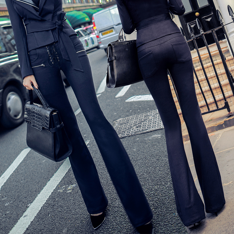 Women Pants Rushed Pants 2017 Autumn And Winter New For Temperament Was Thin Cross Strap Bag Hip Bell Jeans Trousers Female 2017 autumn and winter new coming all match jeans sequined female midlle waist elastic pencil pants female