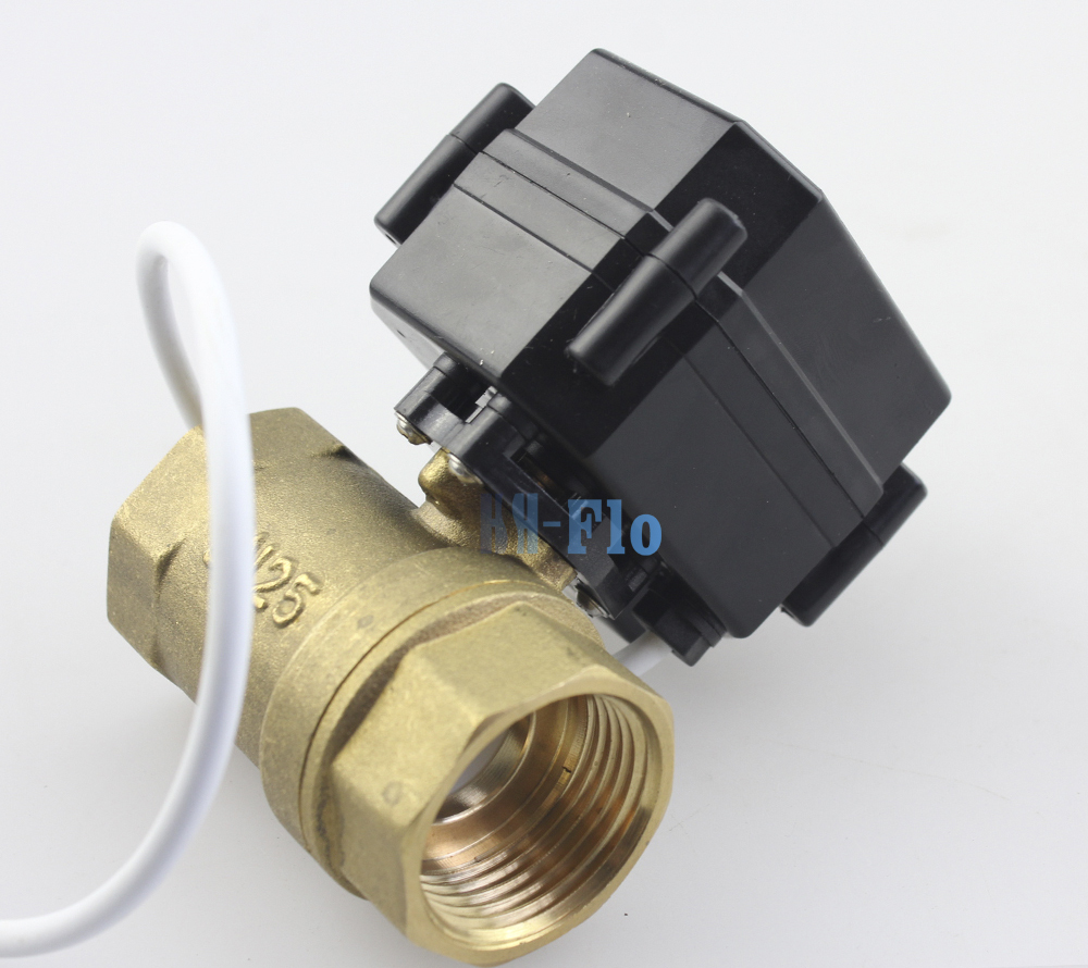 HSH Flo 1 DN25 9 24VAC DC Brass Two Way Motorized Ball Valve Auto Return Electrical
