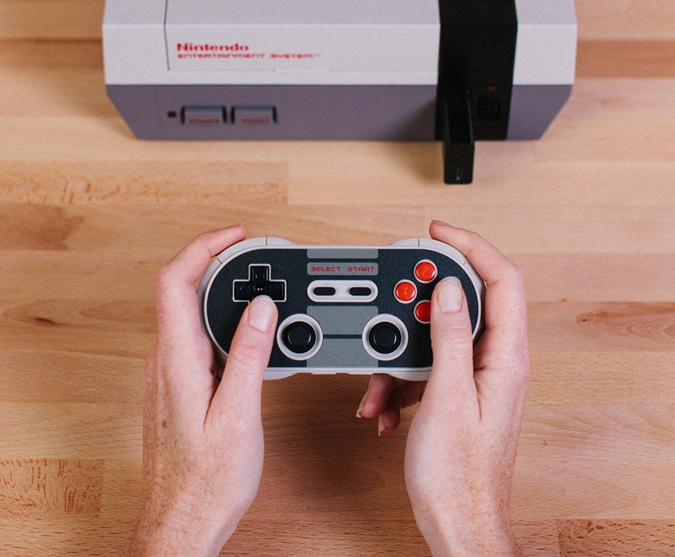 8BitDo Bluetooth Retro Receiver Adapter for NES Console Support PS3 PS4 WII Mote 8BitDo Gamepad to play one NES Console 20