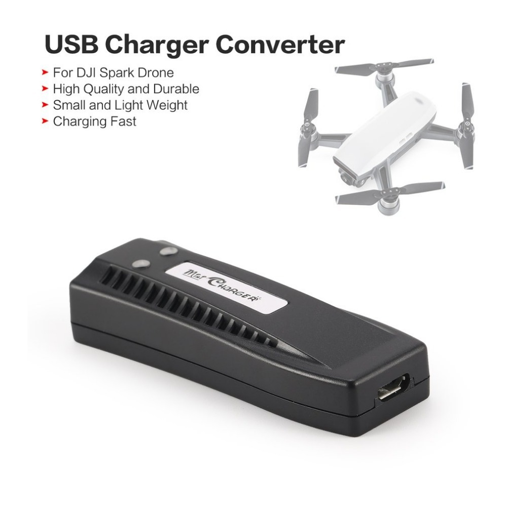 Draagbare Universele USB Charger Converter 5 v 3A Snelle Opladen Drone Acculader for a DJI Spark Quadcopter Accessoires