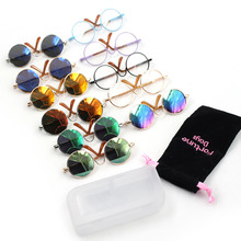 Doll Accessories Blyth Glasses Round Shaped Round Glasses Colorful Glasses  Sunglasses Includes A Storage Box