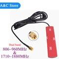 Antena de banda dual gsm 806-960 Mhz 1710-1880 Mhz tira pegada parche antena conector SMA-Macho antena 3 M Cable
