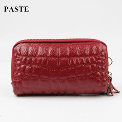 2017 new fashion genuine cow leather women s coin purse stone pattern double zipper clutch bag.jpg 250x250