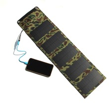 10W 2A Outdoor folding Solar Panel USB Output High efficiency power generation Power Bank waterproof travel Solar Charger phone