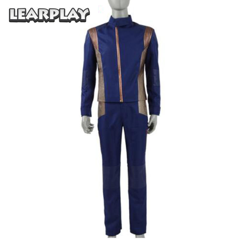 Star Trek  Discovery Commander Uniform Cosplay Costume 2017 New Starfleet USS Discovery Captain Lorca Duty Outfit for Men