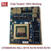 GTX 980M 8G GTX980M Graphics Card For Dell M17X R4 R5 M18X R2 R3 with X Bracket N16E GX A1 8GB GDDR5 MXM 100% Working Fully Test
