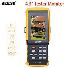 SEESII IPC9300SATC 4.3″ HD 1080P Touch Screen Camera CCTV Wifi Tester Monitor IP+AHD+CVI+TVI+CVBS Network Video Test PTZ Control