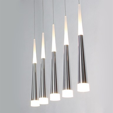 Acrylic Modern LED Pendant Light Lamp With 5 Lights For Dining Room, Lamparas Lustres E Pendente De Sala Teto new design acrylic modern led pendant lighting lamp with 6 lights for dining room foyer lustres e pendentes de sala ac