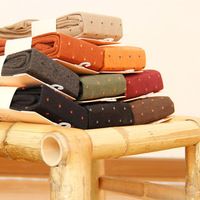 Autumn Winter Fashion Dots Cotton Pantyhose Nine Points Women Tights High Quality