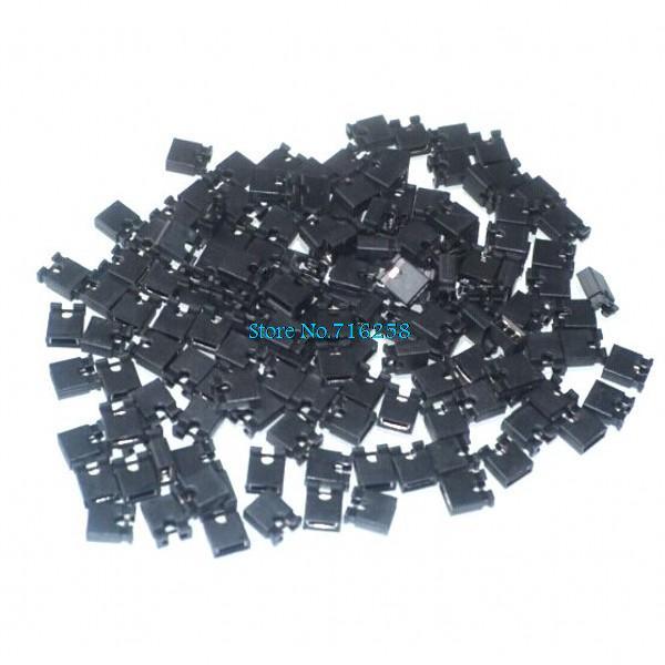100pcs Mini Micro Jumper For 2.54mm Header (shunts) Short Circuit Block Jumper