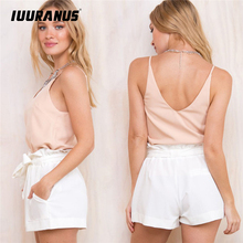 IUURANUS 2019 new arrivals white shorts Hot Summer Casual Shorts Beach High Waist Short Fashion Lady Women