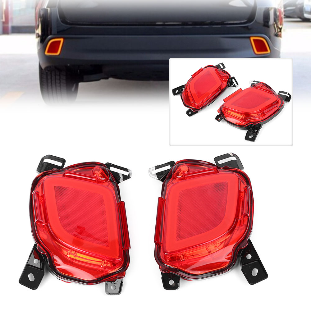 Car LED Rear Bumper Brake Lights Tail Turn Signal Lamp Taillight For Toyota Highlander 2015 2016 2017 2018 Automobile Parts car led rear bumper light fit for fortuner 2015 2016 2017 led brake lamp car tail lamp bumper light taillight car accessories