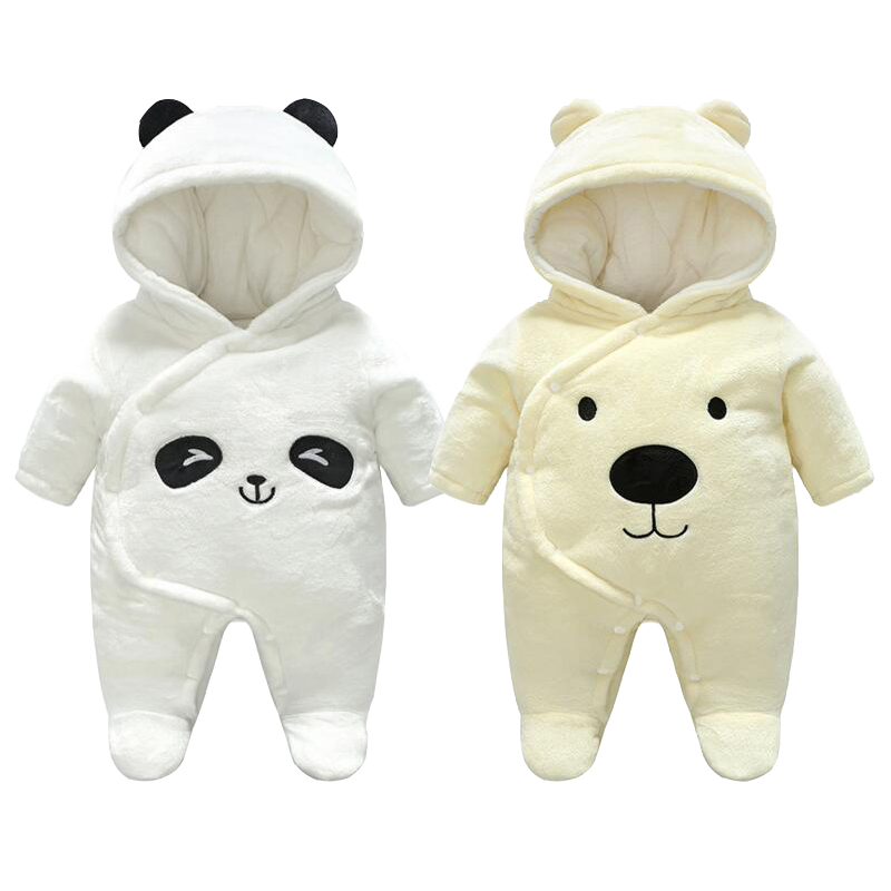 New Baby Clothes Winter Newborn Romper Cotton + Fleece Girl Newborn Jumpsuit Baby Boys Romper Boy Clothing puseky 2017 infant romper baby boys girls jumpsuit newborn bebe clothing hooded toddler baby clothes cute panda romper costumes