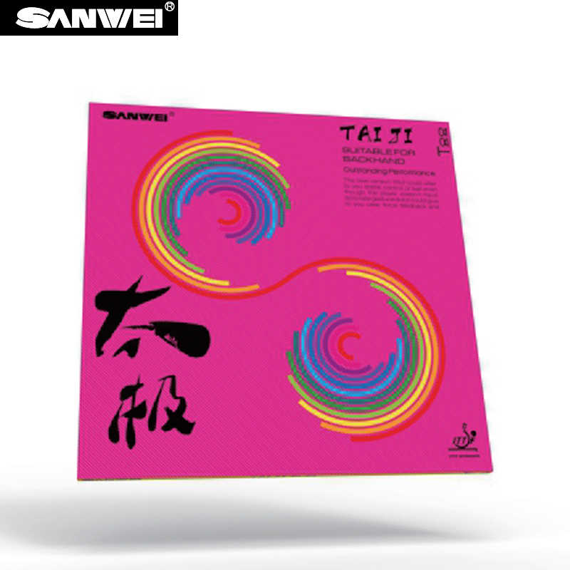 SANWEI New TAIJI (TAICHI) PLUS 40+ Table Tennis Rubber (Half-sticky, Pink German Style Tension Sponge) Ping Pong Rubber