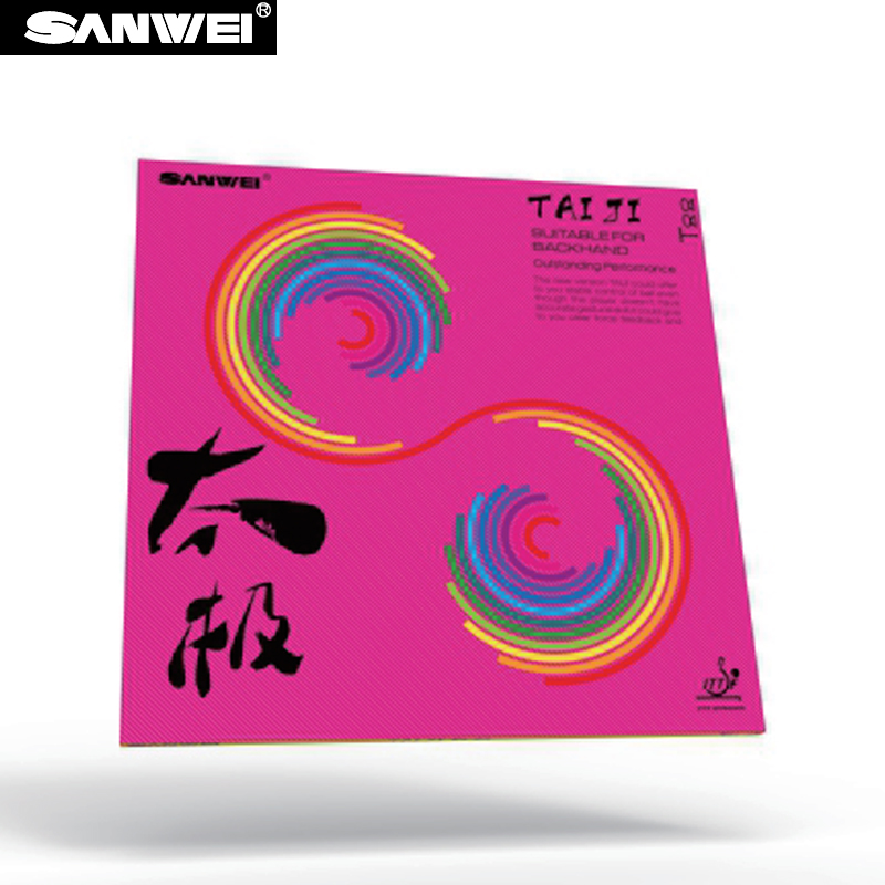 SANWEI 2017 New TAIJI (TAICHI) PLUS 40+ Table Tennis Rubber (Half-sticky, Pink German Style Tension Sponge) Ping Pong Rubber