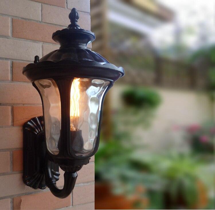 Retro lampada da parete coperta e27 alluminio materiale di vetro applique da parete d'epoca ha condotto la luce scale led applique da parete luce per la casa - 4