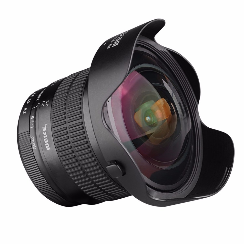 Meike 8mm f/3.5 Wide Angle Fisheye Lens for Nikon DSLR Cameras with APS-C/Full Frame