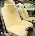 1 pc new style beige 100% natrual sheepskin car seat cushion car cushion car seat cover free shipping factory price