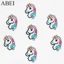 10pcs/lot Top Cartoon Animal Patches Embroidered unicorn Appliques Fabric Stickers for baby clothes bags DIY Patchwork Supplier