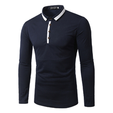 Men Polo Shirts 2016 Autumn/Spring Long Sleeve Male Tops Long Sleeve Men's Brand Clothing Slim Fit Boss Polo Shirts for Men T41