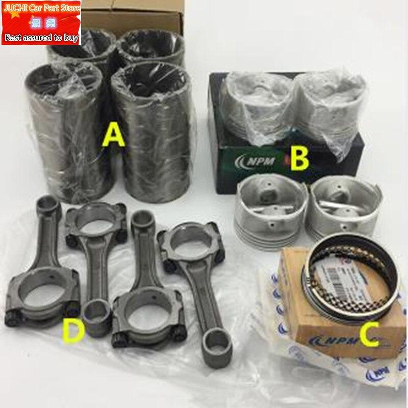 Piston de moteur de voiture, segment de piston, chemise de cylindre, bielle pour Geely CK CK1 CK2