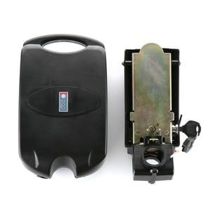 Image 5 - 36v 48v צפרדע סגנון מקרה סוללה אחסון תיבת אופני סוללה פלסטיק מקרה עם תצוגת כוח מנורה