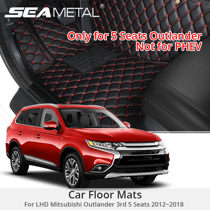 For LHD Mitsubishi Outlander 5 Seats 2018 2017 2016 Car Floor Mats Custom Rugs Auto Interior