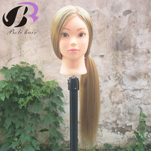 26 Training Head for Hairdressers Mannequin Head Blond Hair Hairdressing Doll Heads Cosmetology Manikin Head with