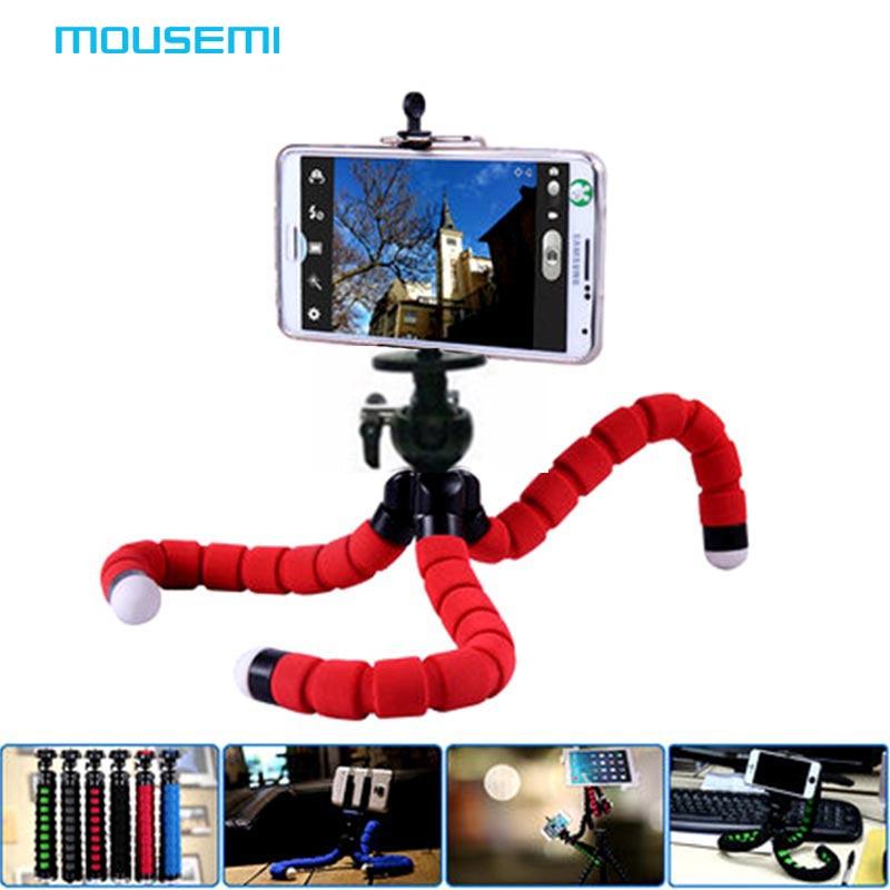 Smartphone Holder Flexible Octopus Leg Tripod Bracket Selfie Stand Mount Monopod Adjustable Accessories For All Phone steering wheel phone holder